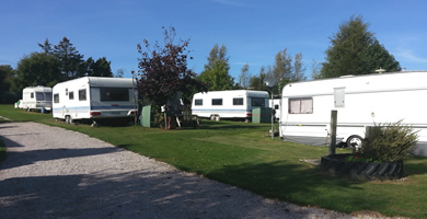 view of the caravan field